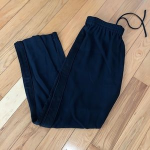 NWT Multi-fabric suiting track pants